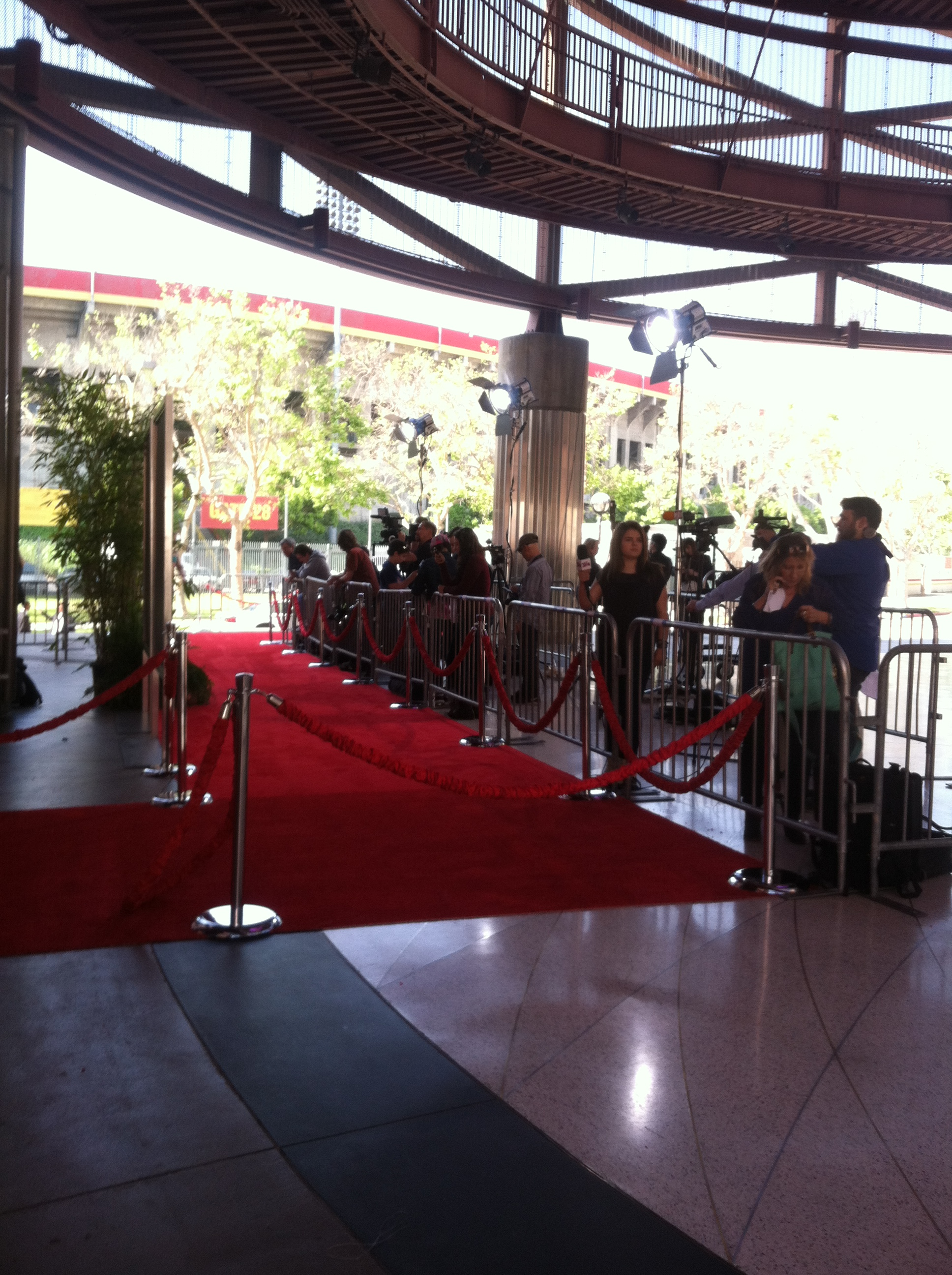 Red Carpet Press Line outside IMAX Theater for film premiere