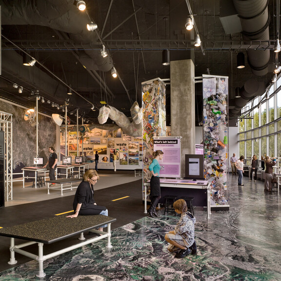 Guests interact with exhibits in Ecosystems' LA Zone