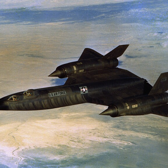 Lockheed A-12 Blackbird trainer aircraft in flight