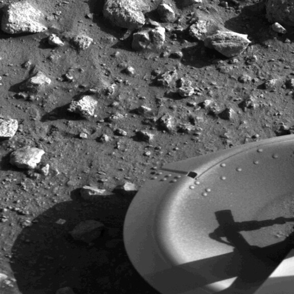 Viking's first picture of the surface of Mars